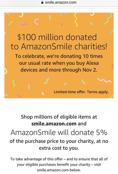 Shop smile.amazon.com