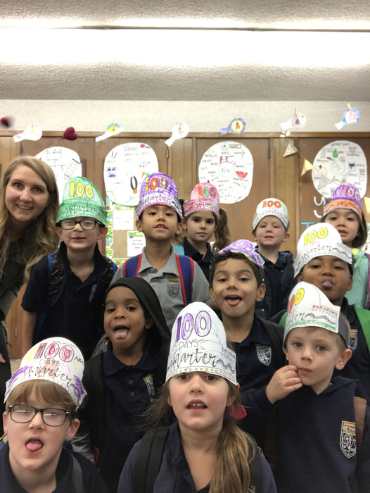Happy 100th day of school from the Kindergarten class!
