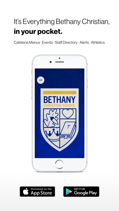 Download our mobile app: It's everything Bethany Christian in your pocket.