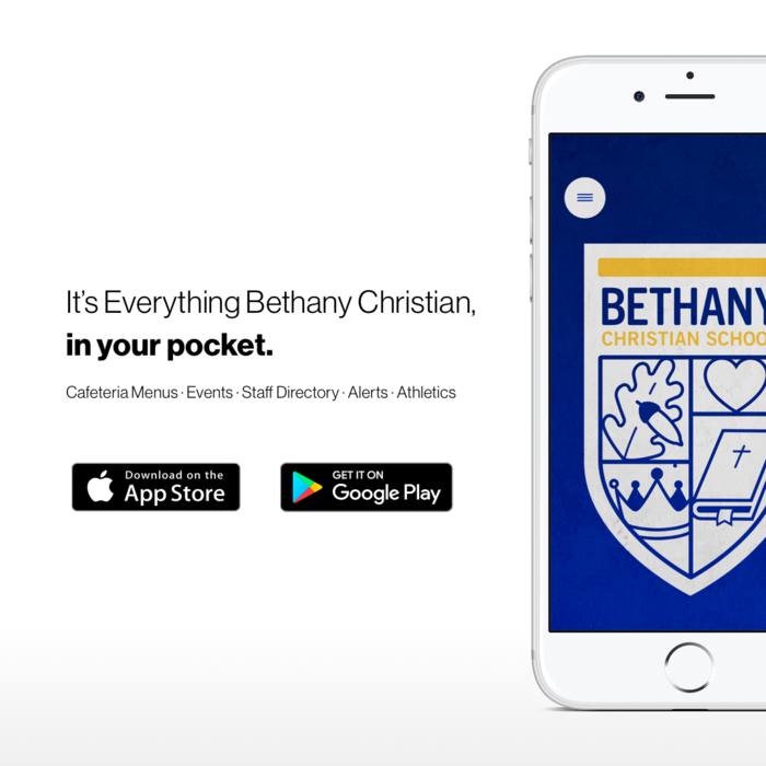 Everything Bethany Christian, in your pocket. Download our mobile app today.