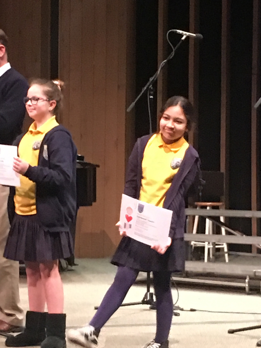 Lucy (4th) and Haddassah (5th) are honored with HHH awards.