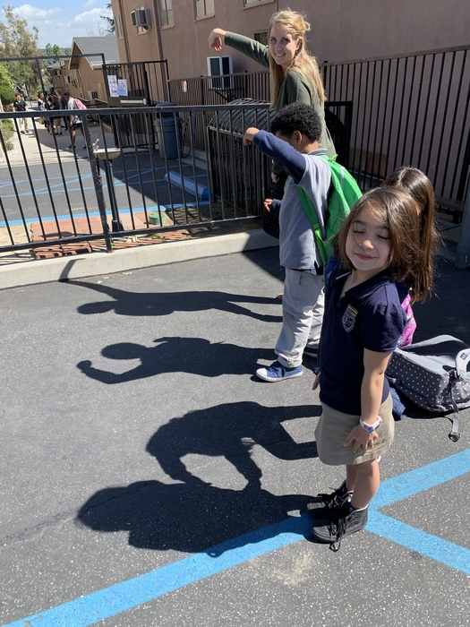 "Shadow spelling at it's finest! Can you see the letters, ""bcs?"""
