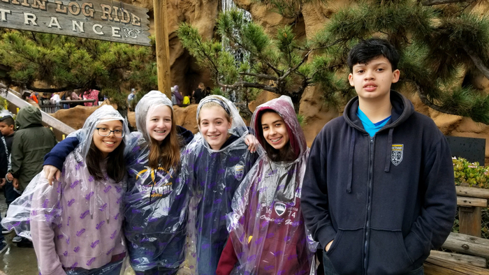 BCS eighth graders at Knott's Berry Farm
