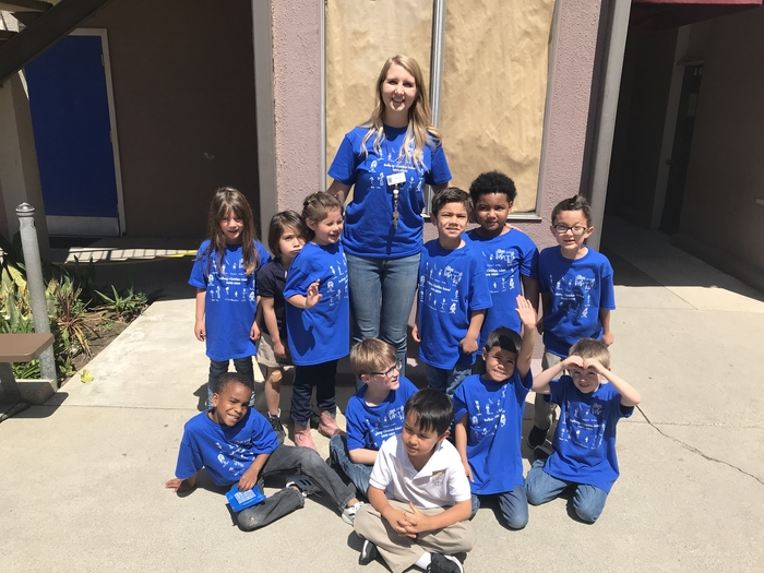 The kindergarten class made these custom shirts! Every student drew a self portrait and then they were placed on a shirt. Such a fun keepsake for the future.