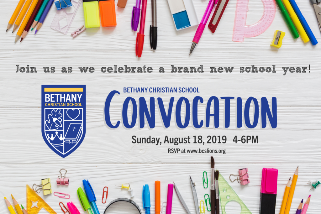 Convocation 8-18-19 @4PM