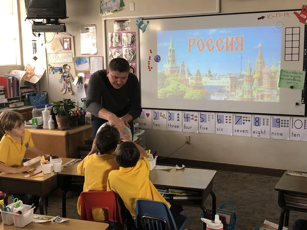 First graders enjoyed a very special guest presentation about Russia. Spasibo!