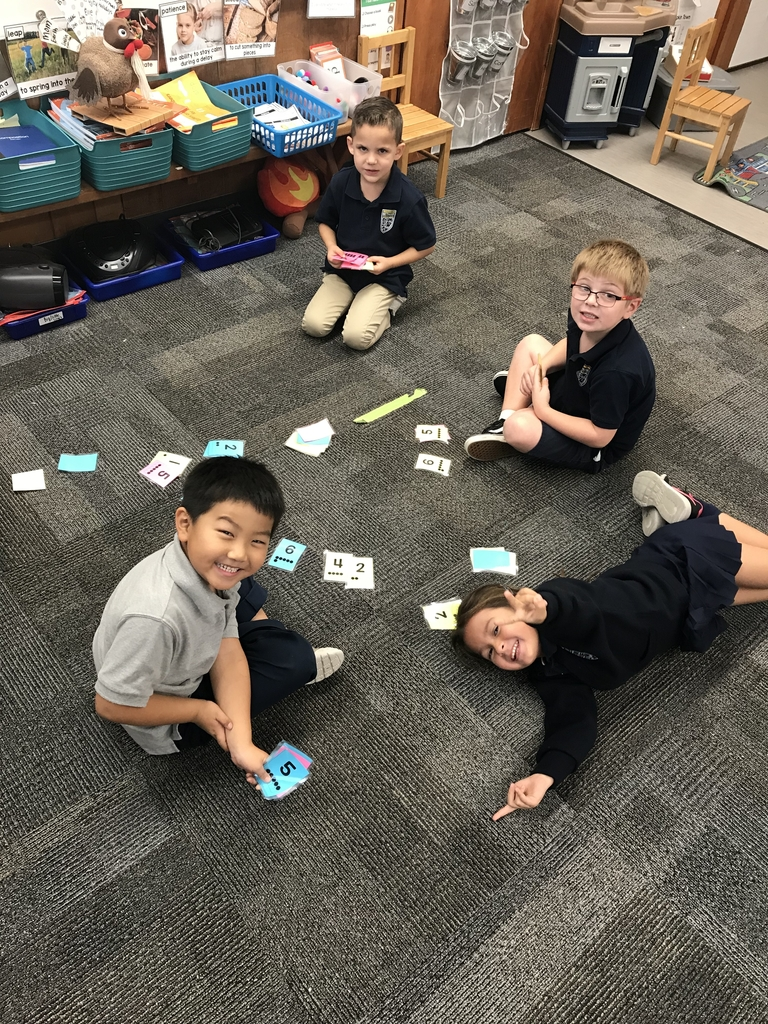 A fun new twist on Go Fish! We had to find the different ways to make 6! #bethanylions #mathfun