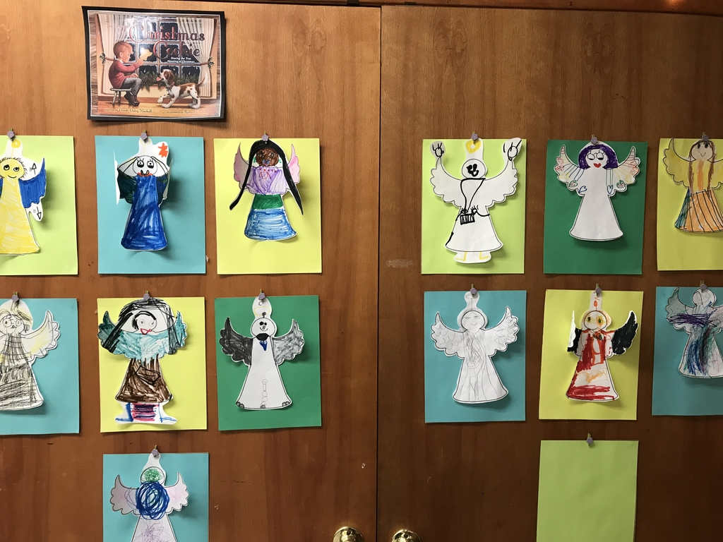 "The students are learning about different ways to spread the Good News of Christmas, that Jesus was born. After we read, ""The Legend of The Christmas Cookie"", the students made angels!  #christmasjoy #Jesusisborn #bethanylions #kindergarten"