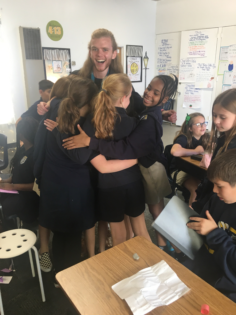 Group Hug! Last day with 5th grade intern. Goodbye Mr. Summers.