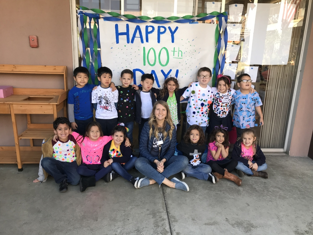 Happy 100th day from Kindergarten! #bcslions