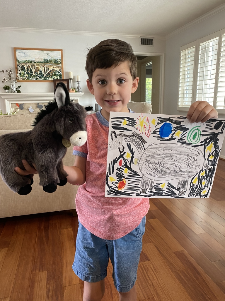 Jack drew his stuffed animal in outer space! Go kindergarten artist!